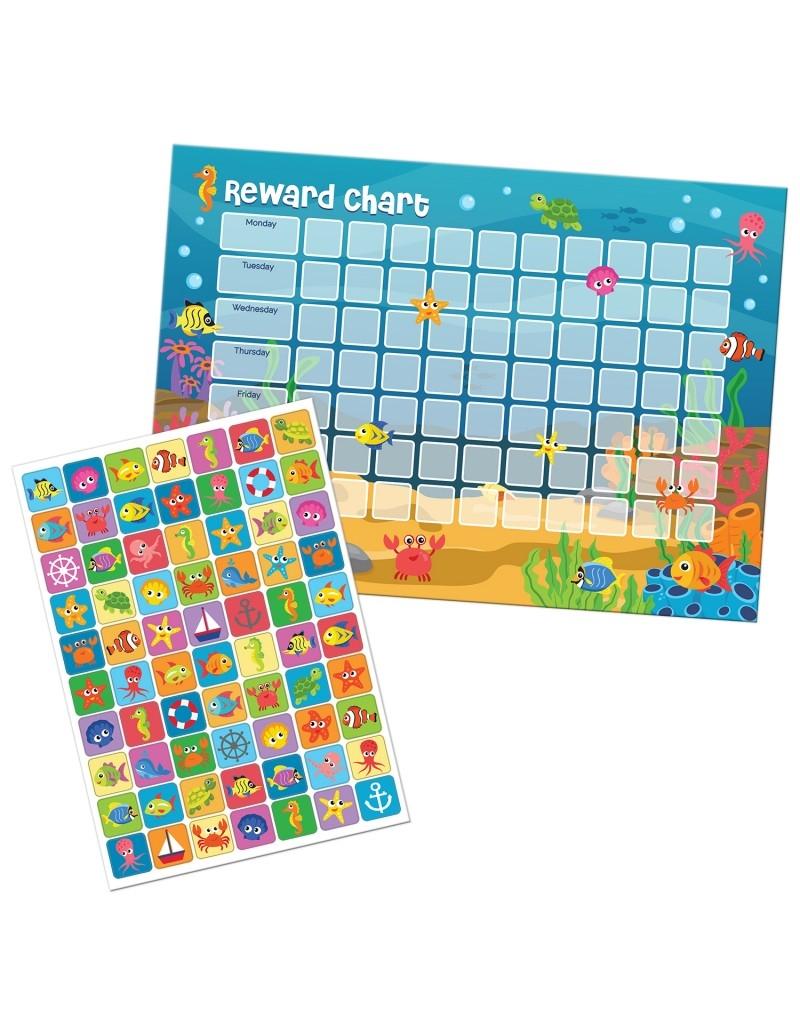 sealife friends reward chart with stickers::Reward Chart with Sticker