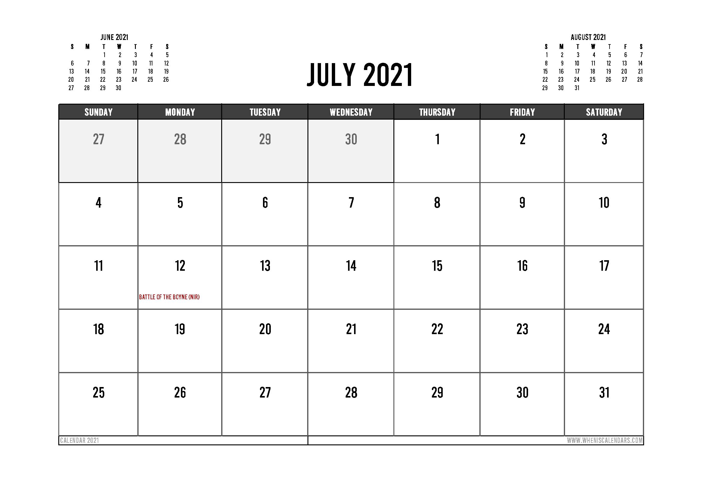 UK Calendar Printable::July 2021 Calendar With Holiday