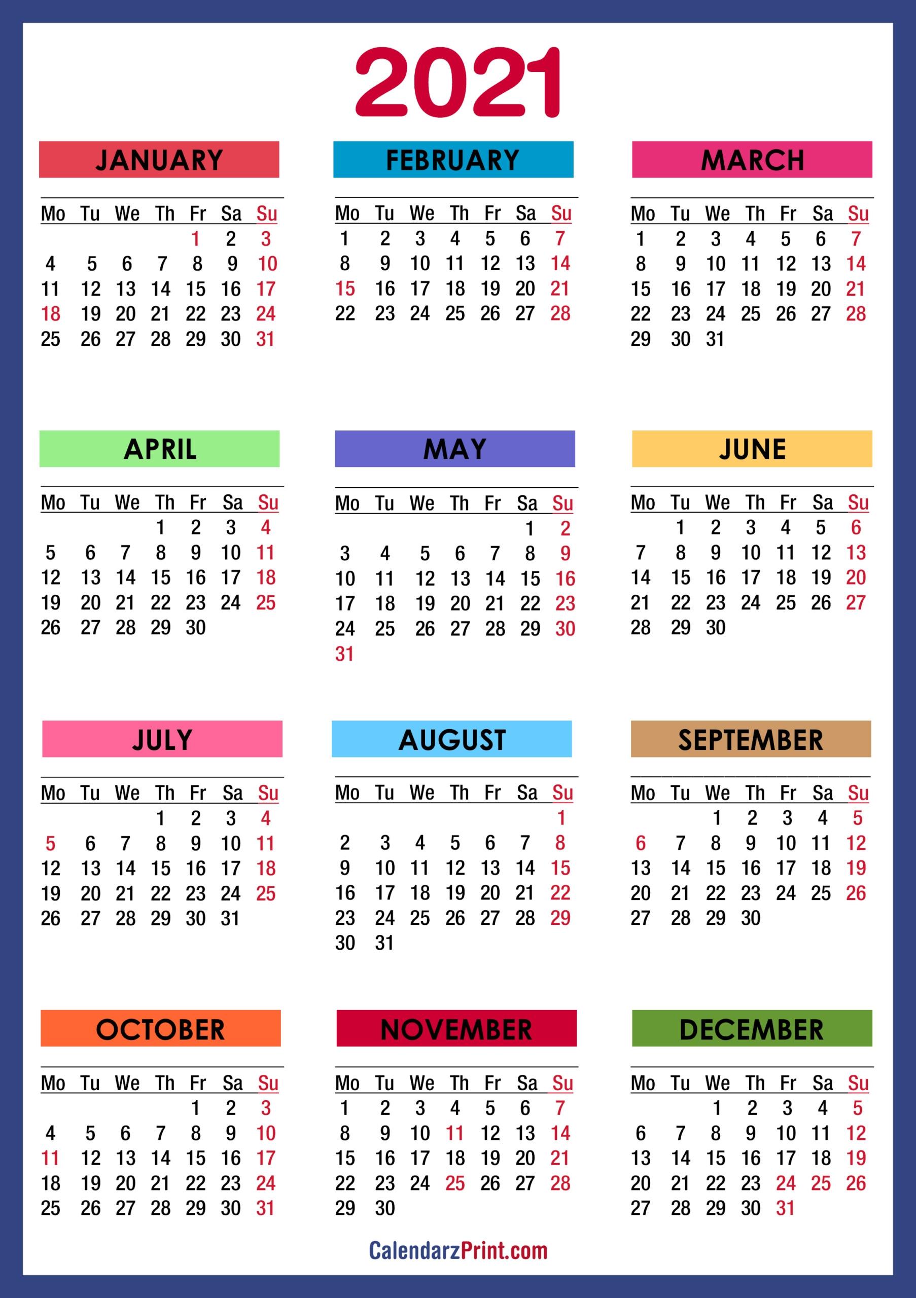 2021 calendar printable with holidays usa 2021 printable calendars::Printable 2021 Calendar By Week