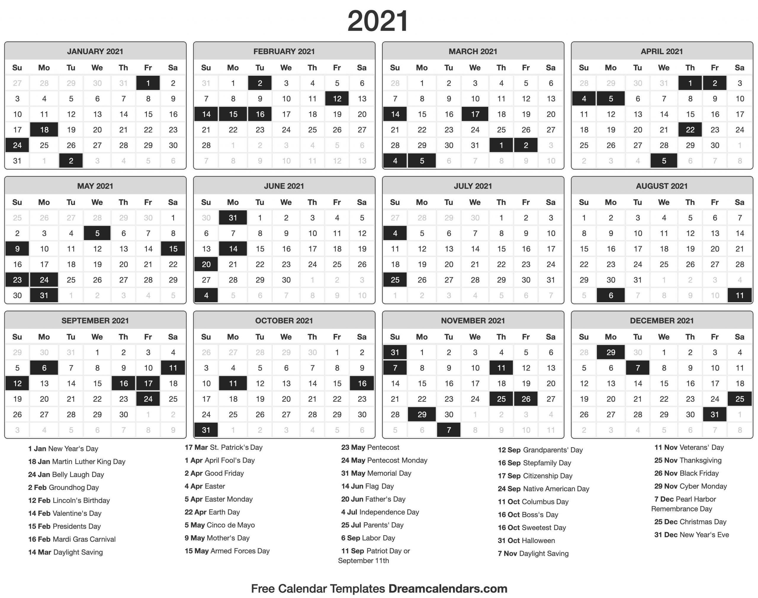 2021 calendar::Printable 2021 Calendar By Week