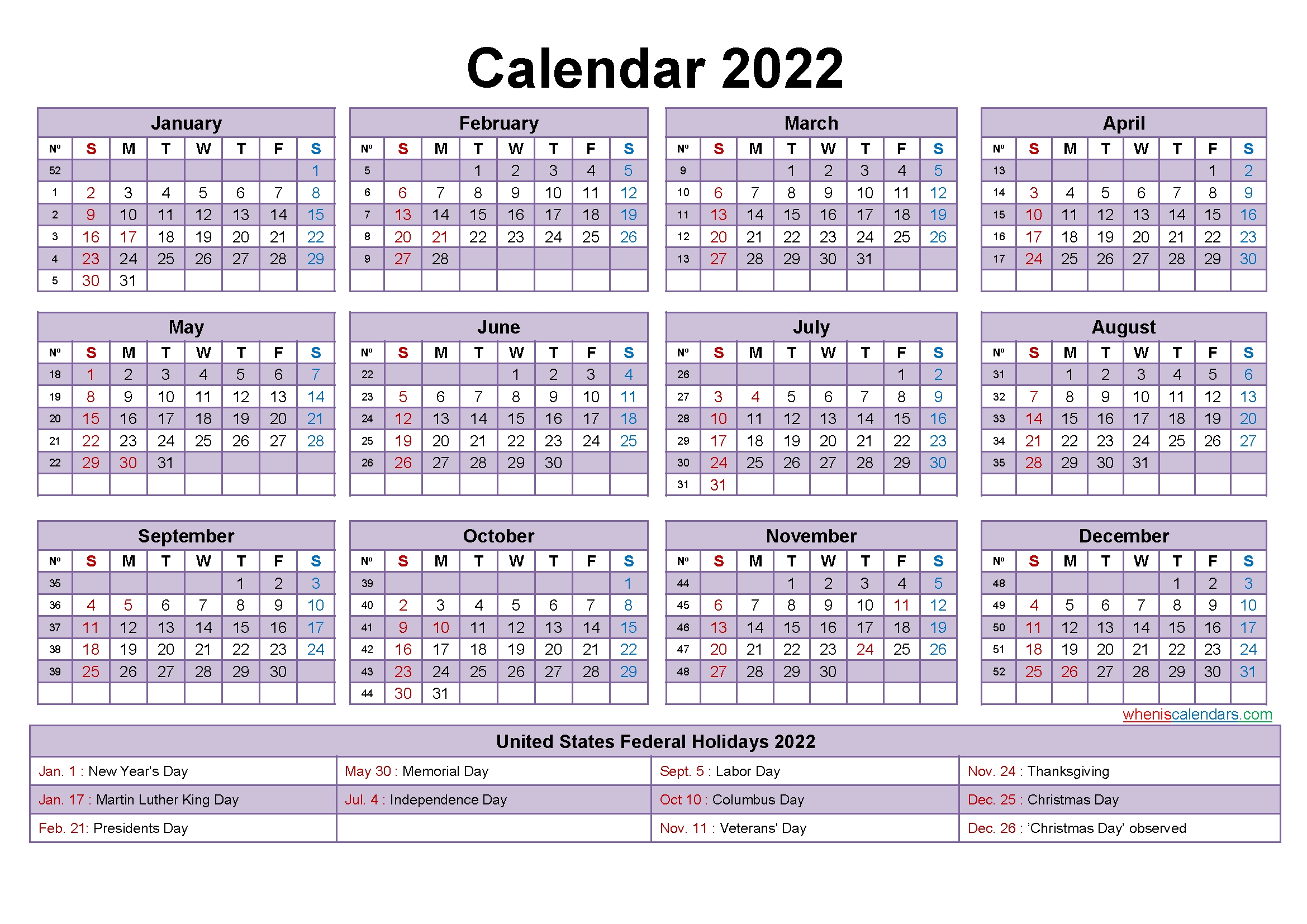 2022 calendar with holidays template word pdf free printable 2020 calendar with holidays::2022 Calendar Canada with Holidays Printable