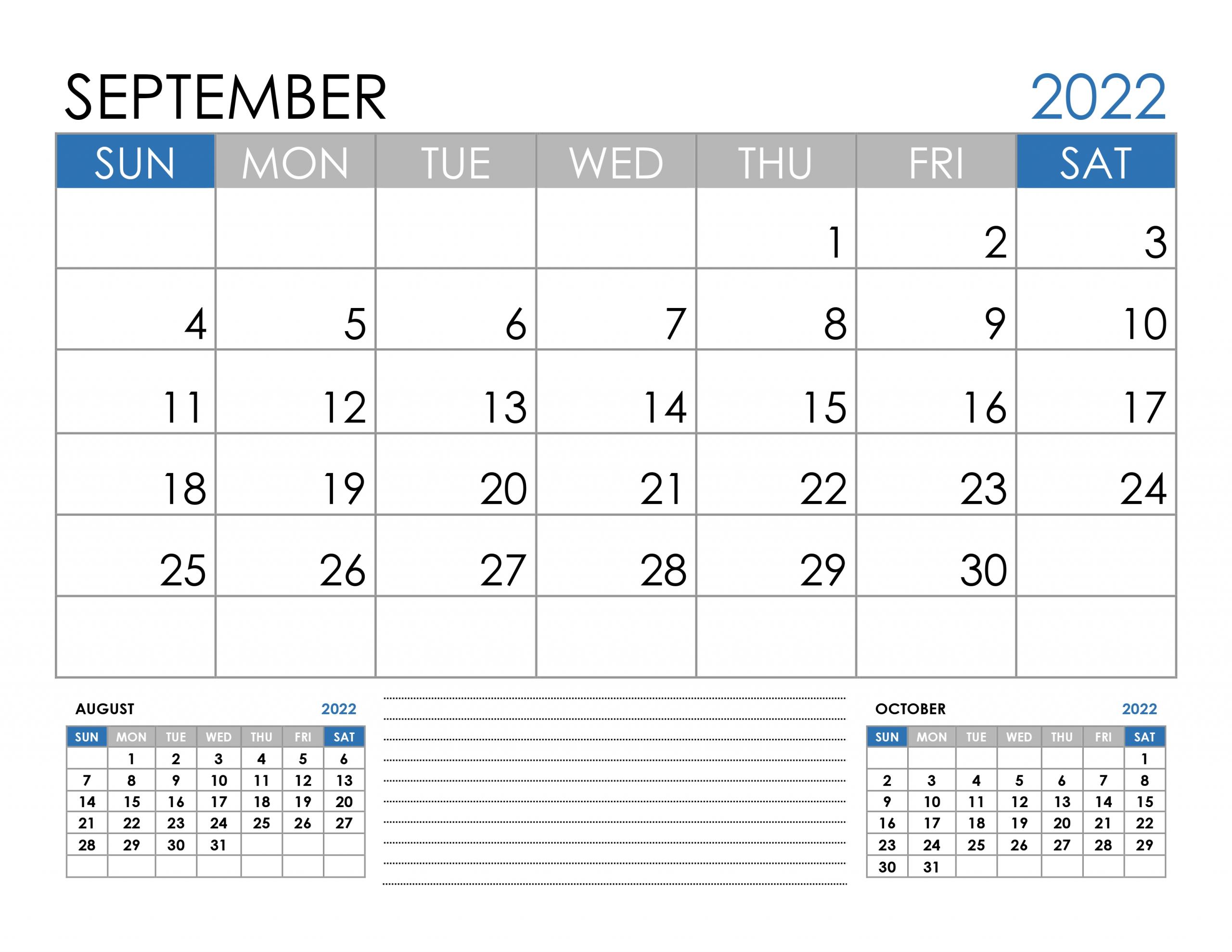 calendar for september 2022 free::September 2022 Cute Calendar Free