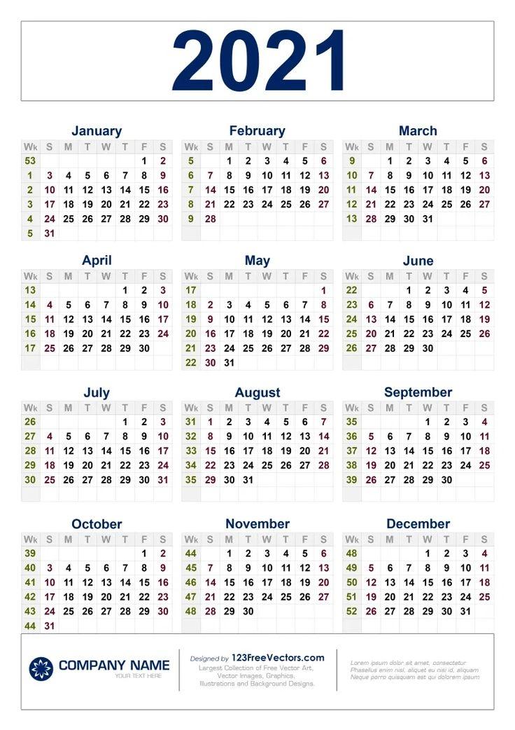 free free download 2021 calendar with week numbers calendar with week numbers print calendar::Printable 2021 Calendar By Week