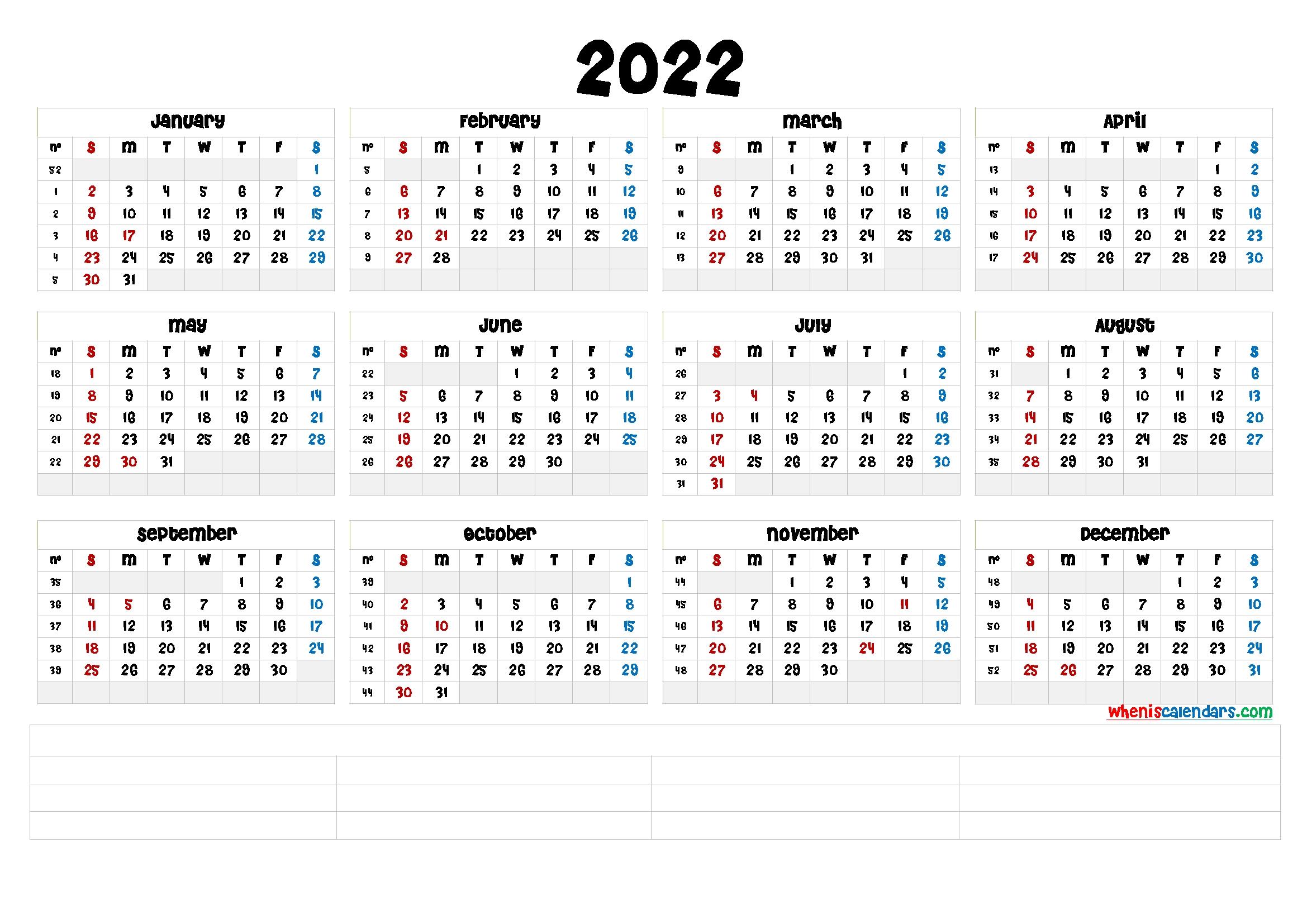 free printable 2022 calendar ::Download 2022 Printable Calendar