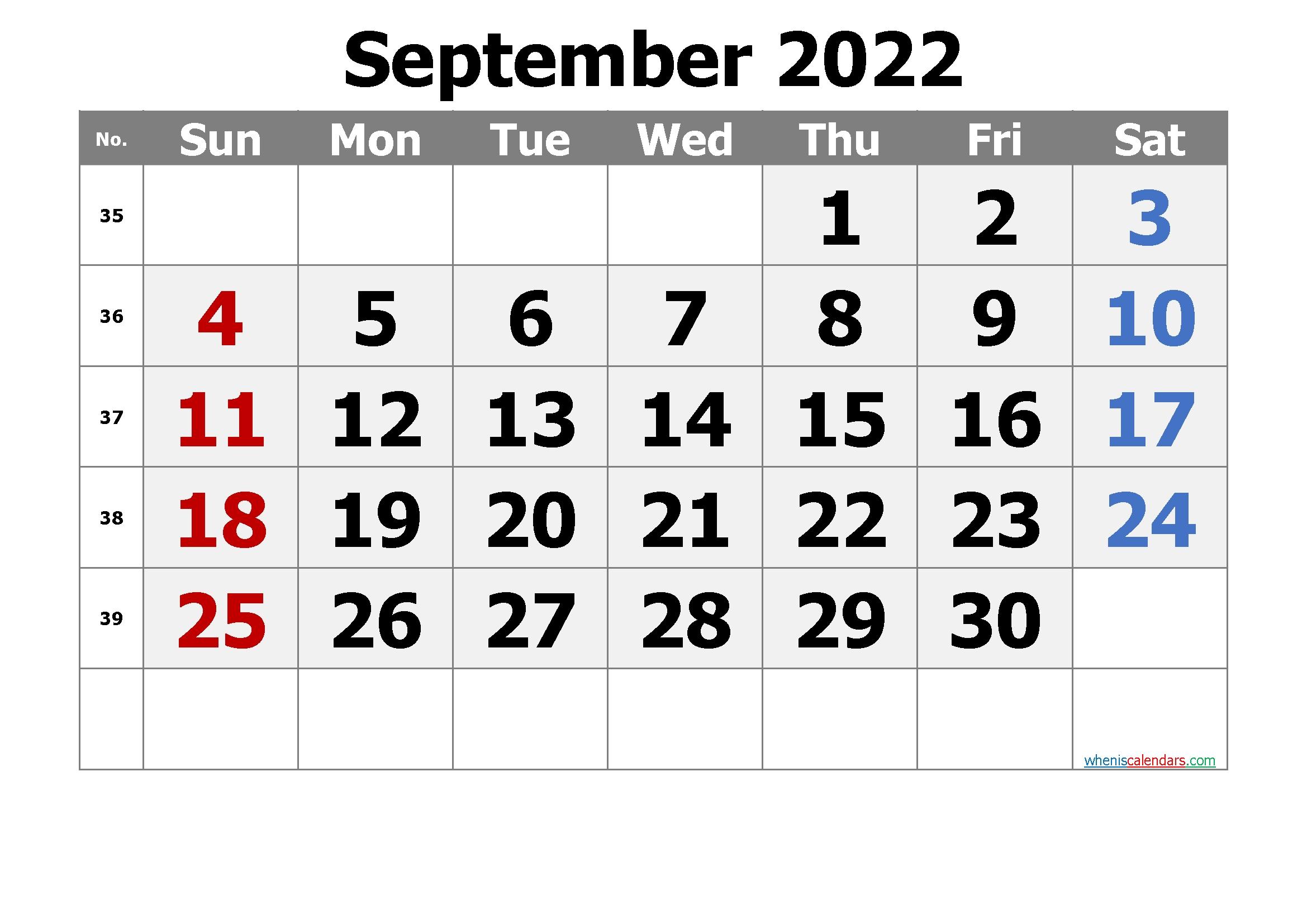free printable calendar september 2022::September 2022 Cute Calendar Free