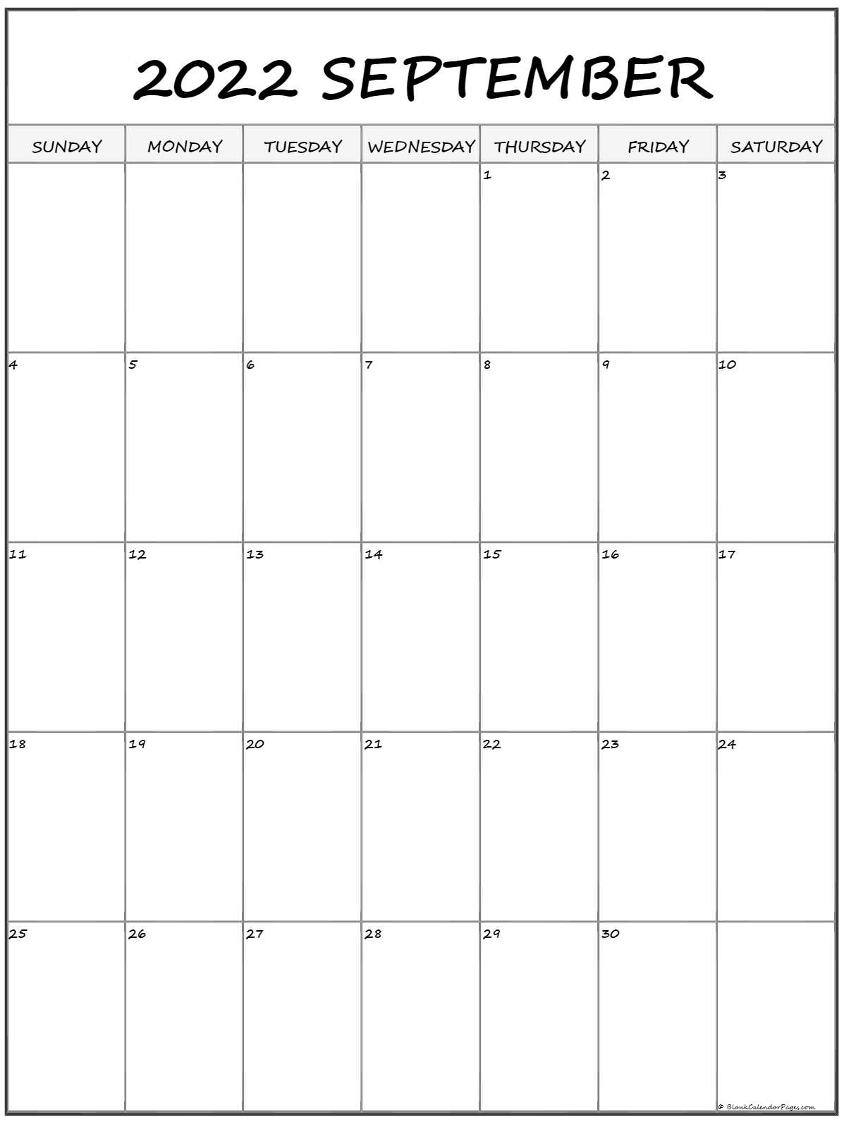 september 2022 vertical calendar portrait::September 2022 Cute Calendar Free