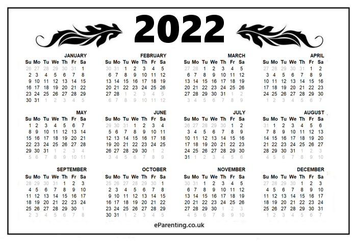 Gregorian Calendar 2022