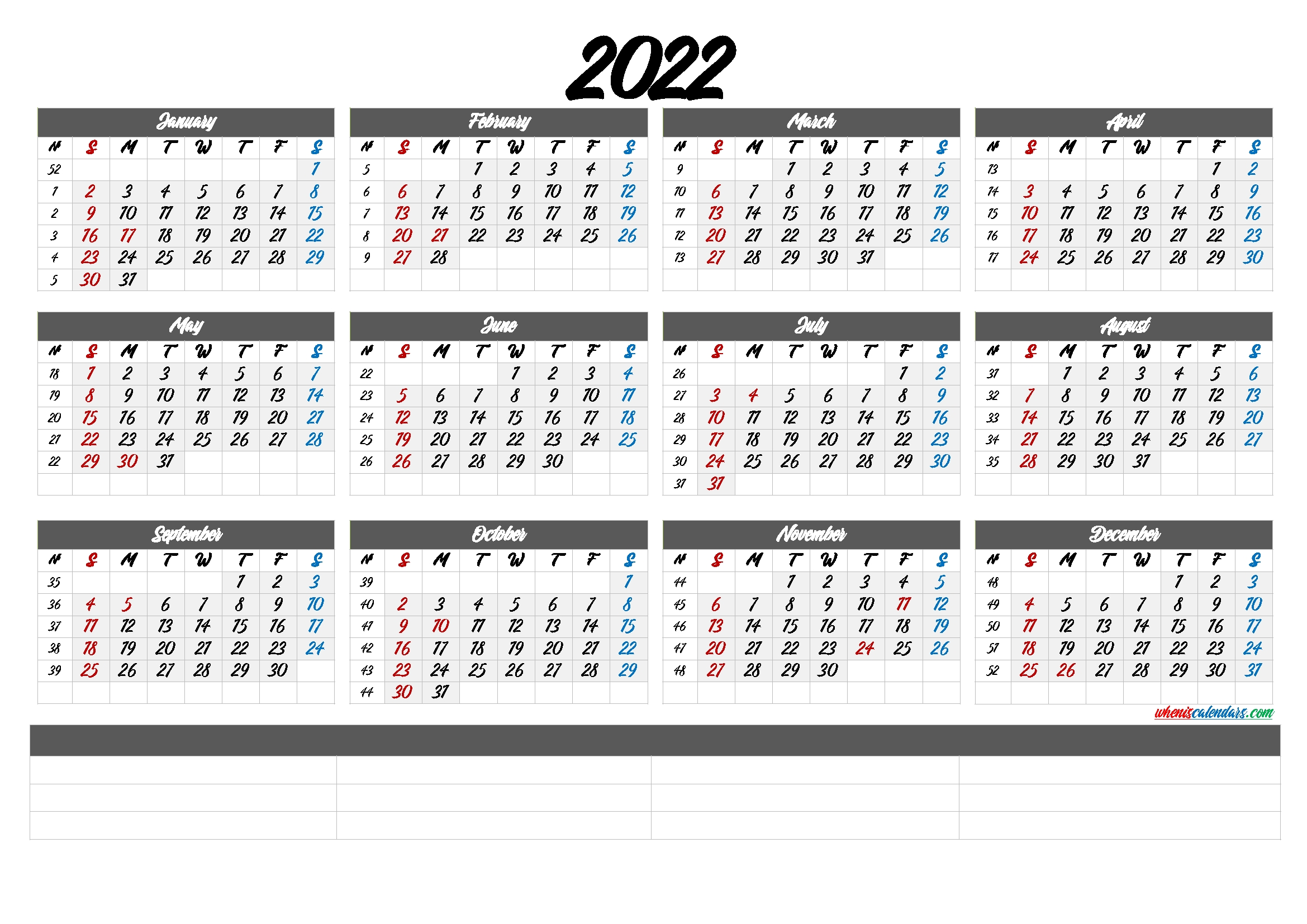 free printable 2022 calendar month 6 templates free printable monthly ::Calendar 2022
