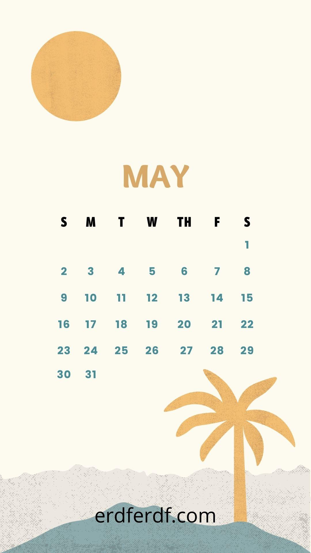 Wallpaper Calendar Iphone 13 May Cute Orange