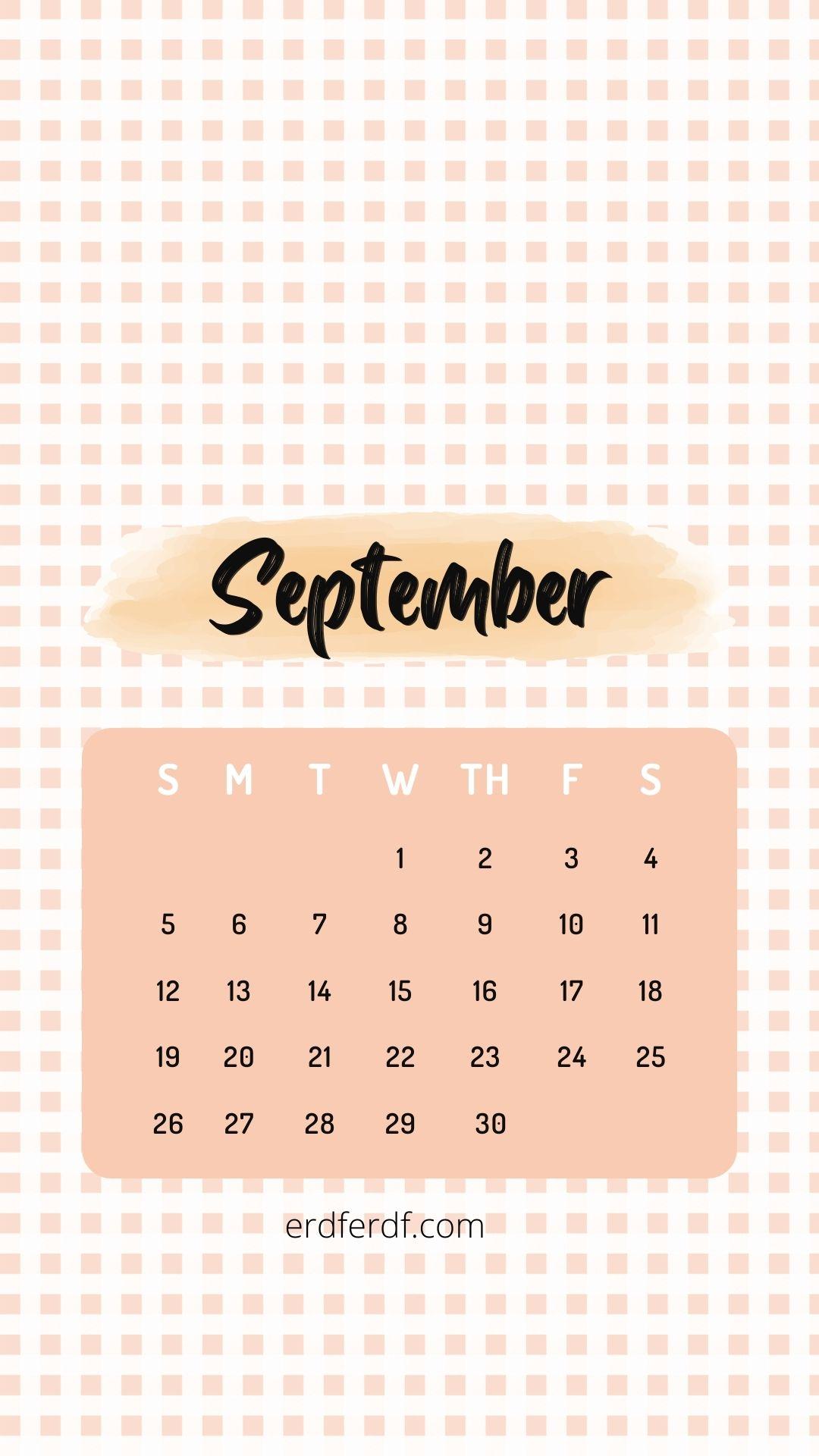 Wallpaper Calendar Iphone 13 September Cute Orange