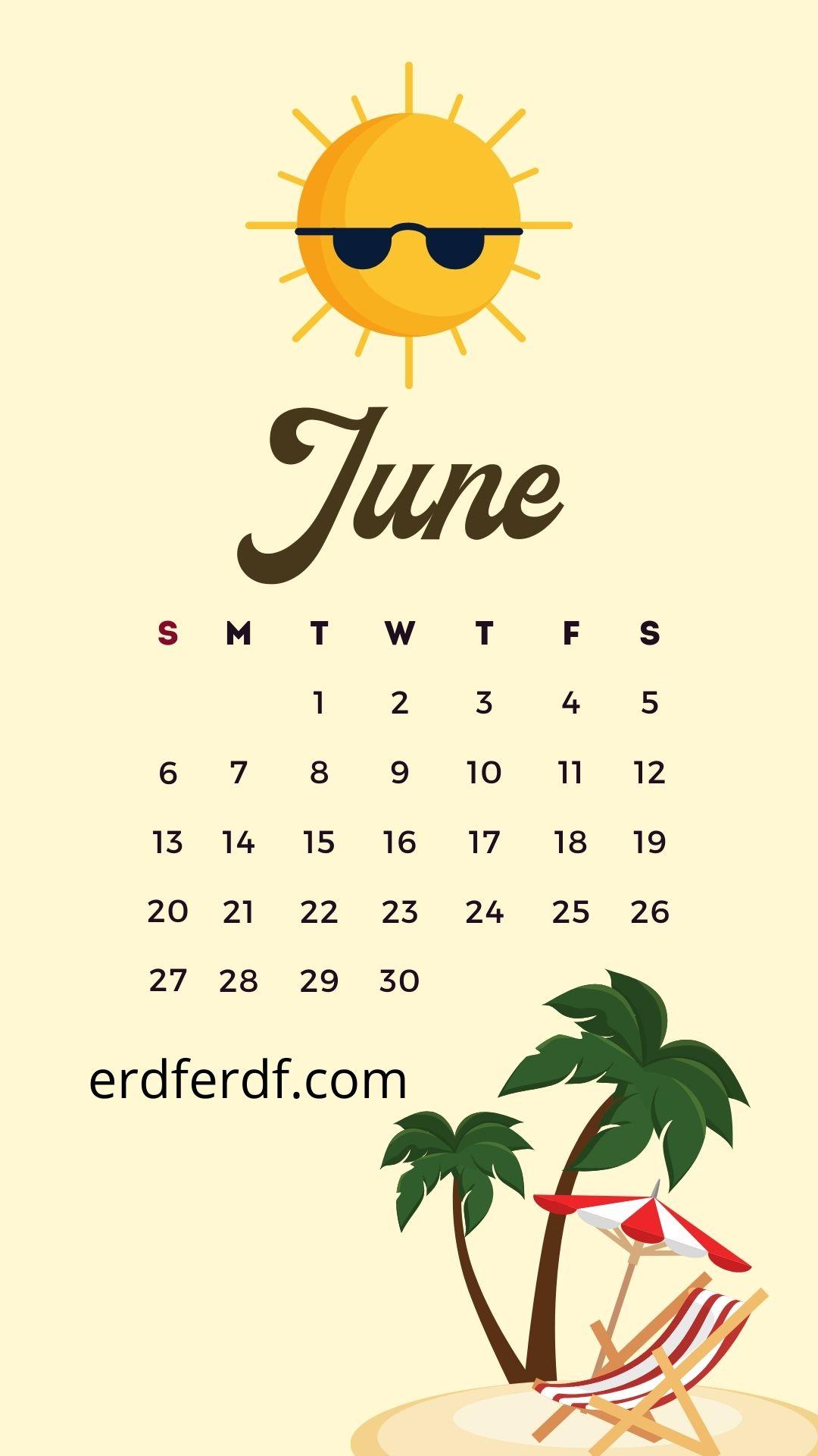 Wallpaper Calendar iPhone 13 june