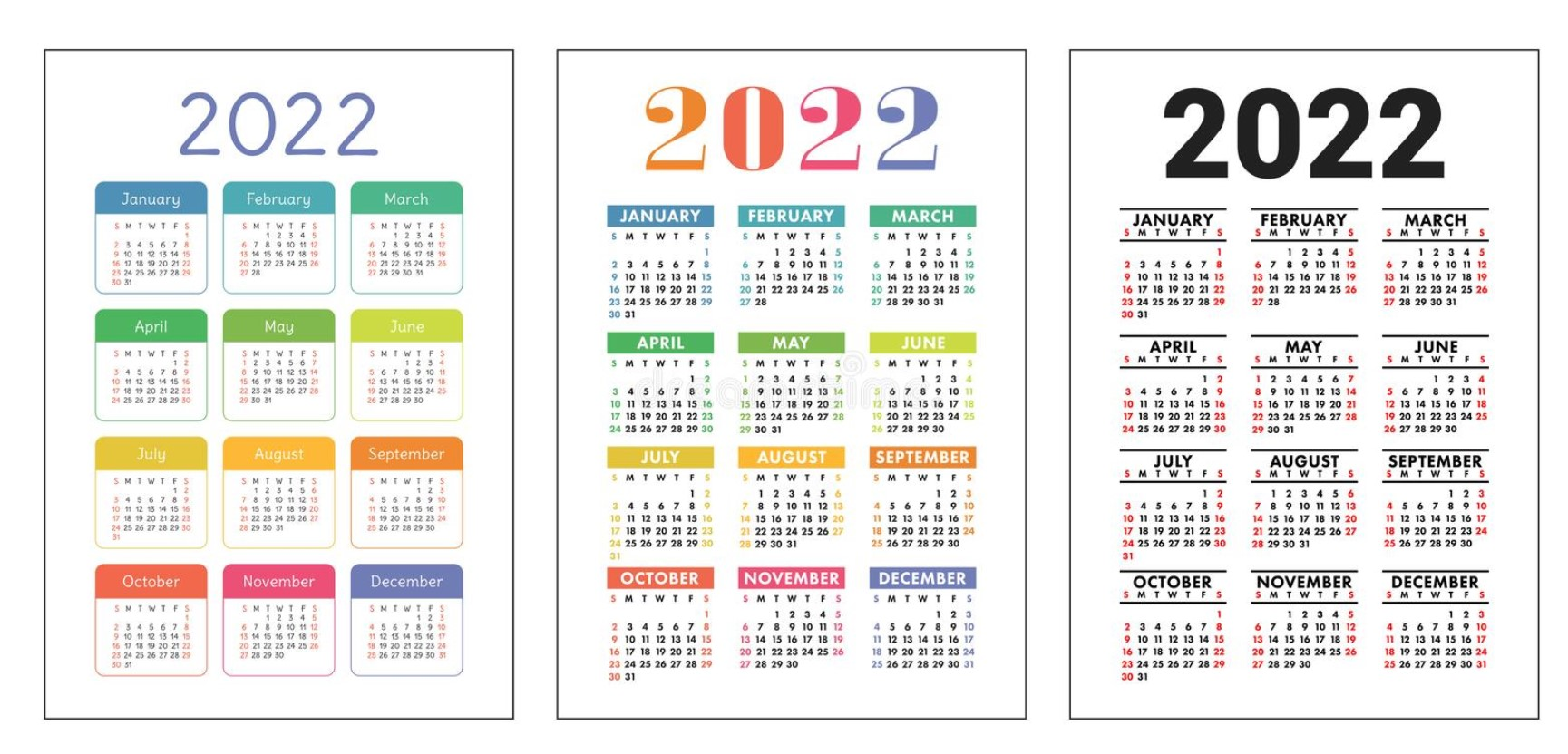 2022 Big Blog Calendar Free