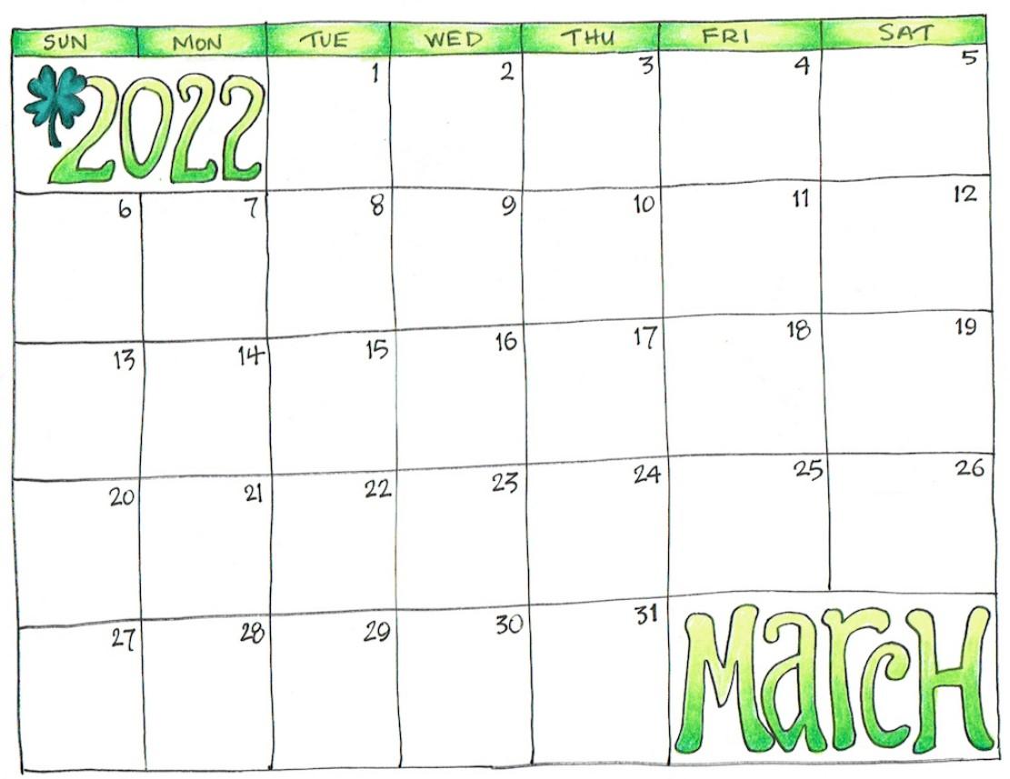 2022 Green Hommy Calendar Free Download