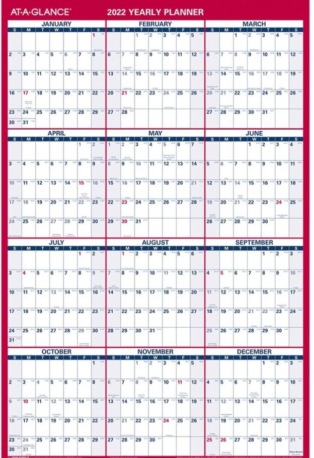 Big Block Calendar Yearly Planner